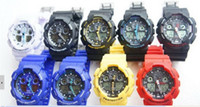 Wholesale 2014 New Men watch Led watch Display sports Unisex watch ga100 digital watch colors g11