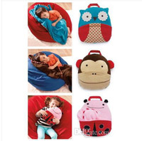 animal luggage sale - Hot Sale Baby Cute baby Luggage hold blanket The beetle owl monkeys design
