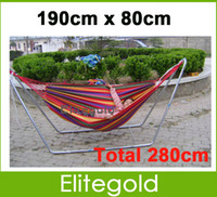 Cheap New Huge Double Cotton Fabric Hammock Air Chair Hanging Swinging Camping Outdoor 3Colors Free Shipping