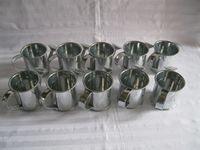 decorative tin - 30Pcs silvery tin box Wedding decorative Watering can sharp egg pots bucket tin box wedding favor holder