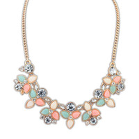 Occident statement necklace - 2014 Occident Choker Necklaces Flower Statement Necklace Pendant For Women Fashion Jewelry