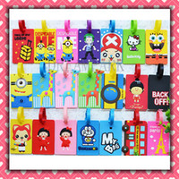 Wholesale Travel Luggage Tag PVC Baggage Tag Colorful Identification card