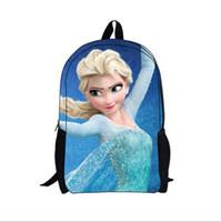 Wholesale EMS free shpping stye Chirdren school bags Kids backpack Anna Elsa girls bags