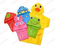 Wholesale Cartoon animal model children s raincoat Lovely Cartoon animal style children raincoat poncho