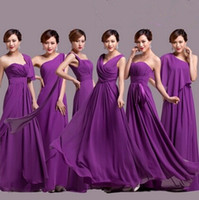 Reference Images vogue wedding dress - Vogue of new fund of purple chiffon wedding dress long evening gowns bridesmaids dress