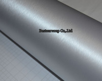 vinyl wrap - Premium Silver Brushed Aluminum steel Vinyl For car wrapping Film Vehicle Stickers Decal Bubble Free air release Size x30M Roll