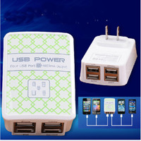Wholesale Universal USB Port Wall Power Charger AC Adapter UK EU US Plug For Samsung Galaxy S4 S5 Note Phone ipad iphone S Tab Tablet DHL