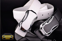 Wholesale 2014 fashion men leisure men s sports car belt in black and white belt