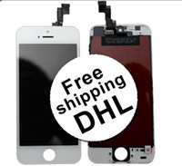 For Apple iPhone LCD Screen Panels  for Apple iPhone 5S Replacement Repair Parts Full Assembly Front LCD Display Lens With Touch Screen Digitizer 100% A Quality Without Dot