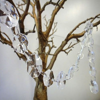 Wholesale 66 FT Wedding Crystal Garland Clear Acrylic Diamond Beads Chain Strands Wedding Party Decoration Hanging Diamond
