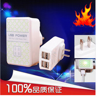 Wholesale New USB Port Wall Power Charger AC Adapter UK EU US Plug For Samsung Galaxy S4 S5 Note Phone ipad iphone S Tab Tablet Universal