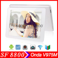 Under $300 Onda 9.7 inch Android 4.3 Onda V975M 2G RAM 32G ROM 9.7 Inch Retina Screen Tablet PC Amlogic M802 2GHZ Quad Core 2.0+5.0MP HDMI OTG Bluetooth free DHL