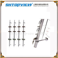 Wholesale LOC R wall mount metal lockable eyeglasses holder sunglass show stand display rack with rock hold pieces