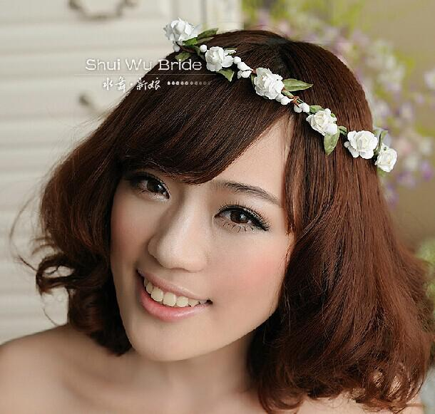 2014 Beach Wedding Flower Headdress Bridal Hair