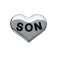 Wholesale Son Heart Family Floating Charms For Origami Owl Glass Lockets