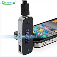 Universal   Best In-car Handsfree Wireless 3.5mm Universal LCD FM Transmitter Good for iPhone 5 4S 4 3G for iPod Nokia Samsung S4 S3