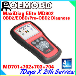 Wholesale 100 Original Autel Maxidiag Elite MD802 Universal Diagnostic Scanner Tool For European American Aisan Vehicles