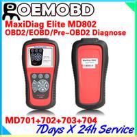auto md - Original Autel Elite Maxidiag MD802 md Full System Auto Diagnostic Tool DS EPB OLS obd2 Update Online