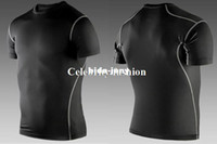 Wholesale Men Fitness Sport Compression Base Layers Under Tops Shirts Thermal Tees Top High Flexibility Skins Gear Wear Sport Vest S XXL