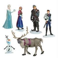 Wholesale New Best Price Frozen Figure Play Set Frozen Princess Anna Elsa figure set movie Cartoon Anime princess doll toy Drop shipment
