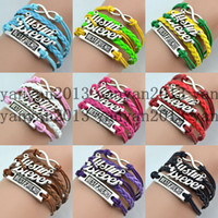 Link, Chain bieber bracelet - Names Canadian singer Justin Bieber Justin Bieber fashion hot best friend infinity December Shengpi Sheng personality woven leather bracelet