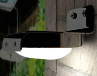 Wholesale PIR Solar Powered LED Wall Lamp LED LEDs Lights Wall Light Ray Motion Sensor Light Motion Detection Path Garden Yard light