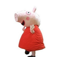 Wholesale Adult Size Red Peppa Pig Mascot Costume Party Clothing