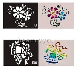 Wholesale 2014 Latest Mixed Design Stencils for Body Painting Glitter Temporary Tattoo