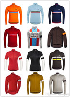 Full Men Polyester Wholesale - 2014 new mans rapha bicycyle sports clothing ,long sleeve cycling jersey 02