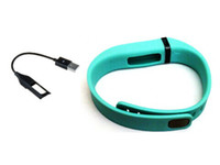 Wholesale Good quality Replacement Wristband USB Cable Clisp For Fitbit Flex Teal Color Large Size In Retail Packing