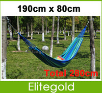 Wholesale NEW Portable Cotton Rope Outdoor Swing Fabric Camping Hammock Canvas Bed cm Quality