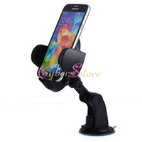 Wholesale Universal Rotating Suction Cup Swivel Mount Car Windshield Holder Cradle For Samsung S4 S3 iPhone S HTC LG All Cell Phone