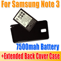 For Samsung   Personal use 7500mAh Extended Replacement Battery With Back Cover Case For Samsung Galaxy Note 3 N9000 N9005 waitingyou