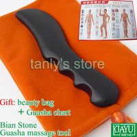 bian stone therapy - Good quality retail Traditional Bian Needle therapy black bian stone massage guasha tool x30x11mm
