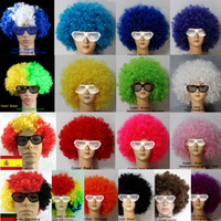 Wholesale Clown Wig Costume New Circus Curly Party Favors afro wigs Adult Costume Wig Hair