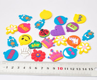 PVC small wholesale lots - Mixed girl Assortment Charms for Rainbow Loom Bracelets small pendant styles mixed