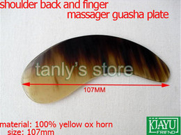 Wholesale Traditional Acupuncture Massage Tool ox horn guasha board Yellow Ox Horn Scrapping beauty