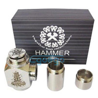 Electronic Cigarette Hammer MOD  Hammer e pipe hammer mod e cigarette Mod Kit Full stainless steel Hammer fit kayfun RDA X9 ithaka CE4 CE5 DCT ego atomizer With retail box