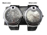 Wholesale Men Quartz Watches Cigarette Lighter Watch Novelty Collectible Watch Cigarette Butane Lighter Wristwatches