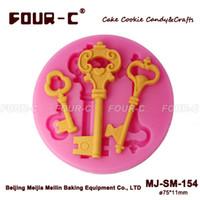 Wholesale Keys silicone D cake decorating mold fondant art mold perfect cake decorating mould