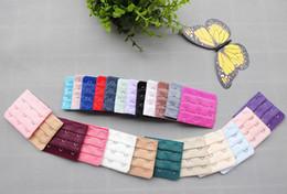 Wholesale 3 Hooks Underwear Strapless Bra Extender Extension Hooks Hook Clip Bra straps extender with Hooks set