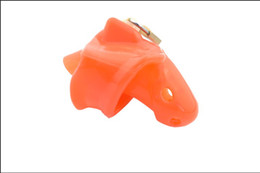 Latest Design Red Silicone spikes Bondage Male Chastity Dick Cage Fixed Ring New Gay Fetish A140