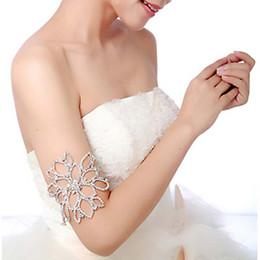 2019 New Bridal Jewelry Bridal Armlet Jewelry Wedding Jewelry Elegant Bridal Rhinestone Forehead Hair Decorations Women Bangle Bracelets