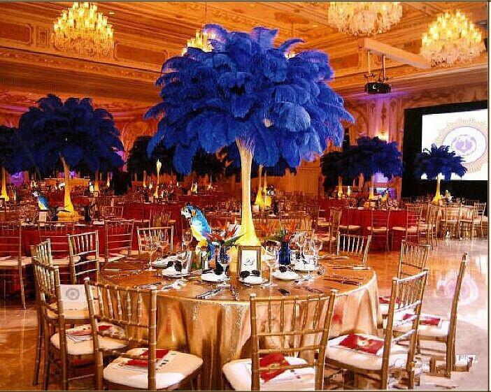 Hot sale ostrich feathers plume centerpiece for wedding