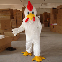adult chicken costume - cartoon character costumes white chicken mascot costume cock clothing party complete outfits adult size