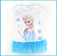 TuTu Summer Tutu 2014 new summer dress baby girl ELSA frozen and children's clothing girl baby clothes blue