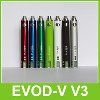 1300mAh Adjustable  EVOD-V v3 1300mAh Battery Variable Voltage EVOD VV3 ego-Vv3 eGo-V v3 Adjustment Wattage with Retail Package Colorful Free DHL