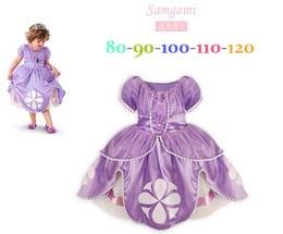 Wholesale children toddler princess sofia the first girl flower ball grown dresses kids dress fairy tail cosplay frozen fantasia costume