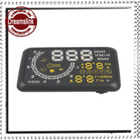 Wholesale 2014 New Arrivals Car HUD Showing OBD Insert Head Up Display KM h amp MPH Speeding Warning OBD2 System