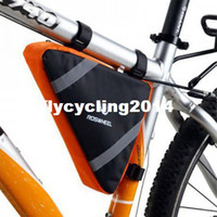 Wholesale New Outdoor Bike Cycling Bicycle Front Tube Pannier Frame Tool Bag PVC Reflective Triangle Two colors
